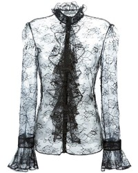 Alexander McQueen Ruffle Lace Blouse