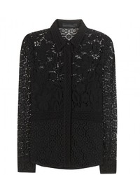 Burberry Lace Cotton Blend Blouse