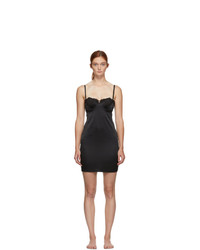 Fleur Du Mal Black Lace James Cup Slip Dress