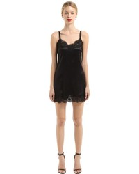 Dolce & Gabbana Silk Satin Lace Slip Dress