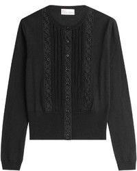 RED Valentino Red Valentino Wool Cardigan With Lace Paneling