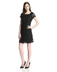 Andrew Marc Marc New York By Short Sleeve Stripe Lace Dress