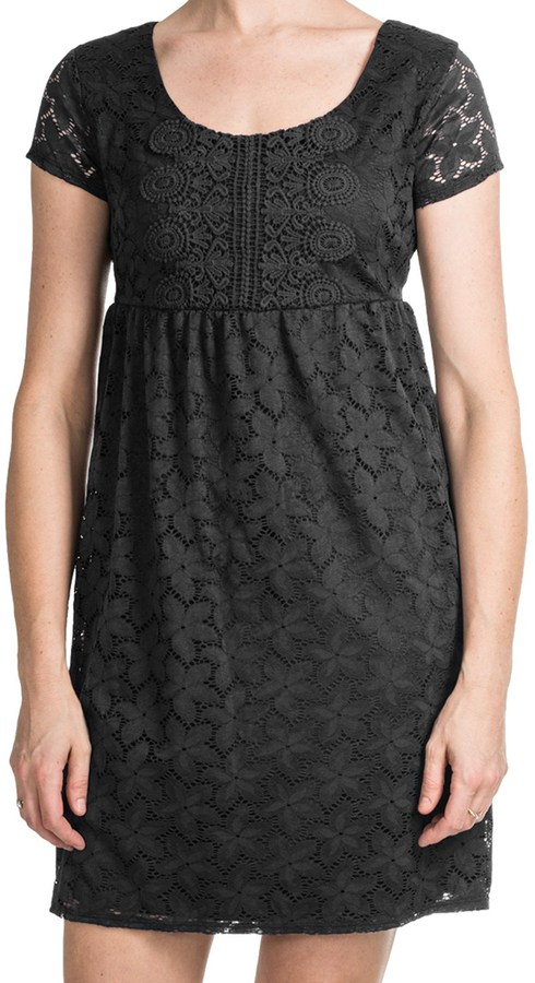 Laundry by Design Sand Dollar Lace Dress Short Sleeve Where to