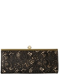 Jessica McClintock Carla Metallic Lace Framed Clutch