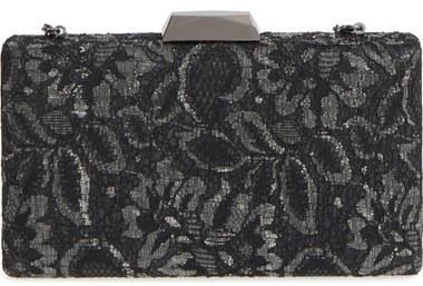 ... Sondra Roberts Chantilly Lace Box Clutch Metallic ... 9a5b5061d8bd9