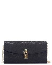 Dolcegabbana lace pouchette clutch black medium 751447