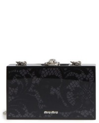 Lace box clutch black medium 4912998