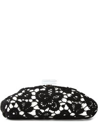 Vintage large floral lace clutch medium 379169
