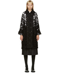 Comme des Garcons Comme Des Garons Black Cut Out Lattice Coat