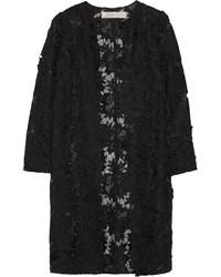 Lela Rose Guipure Lace And Silk Organza Coat