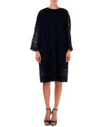Nina Ricci Lace Topper Coat Black