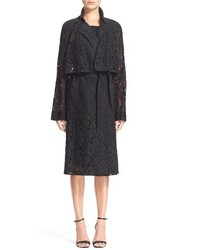 Tracy Reese Lace Trench Coat Size Small Black