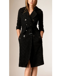 Burberry Swiss Woven Lace Trench Coat