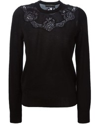 Dolce & Gabbana Floral Lace Insert Sweater