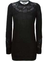 Dolce gabbana lace insert sweater medium 343304