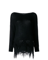 Ermanno Scervino Lace And Feather Hem Sweater