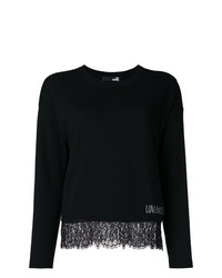 Love Moschino Lace Hem Jumper