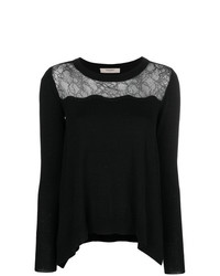 Twin-Set Lace Panel Jumper