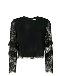 Patrizia Pepe Lace Sleeves Sweater