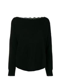 Semicouture Sophia Lace Back Sweater