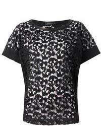 Barbara Bui Lace Short Sleeve T Shirt