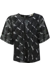 MSGM Waxed Lace T Shirt
