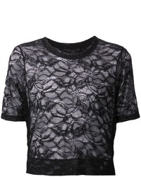 Raquel Allegra Cropped Lace T Shirt