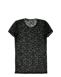 Versace Collection Sheer Lace T Shirt