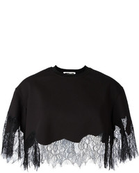 MCQ Alexander Ueen Lace Hem Cropped Blouse