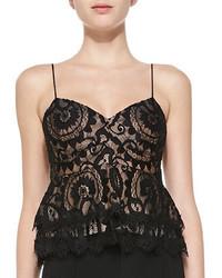 Nanette Lepore Courtesan Lace Crop Top