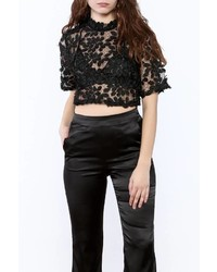 Gracia Cropped Lace Top