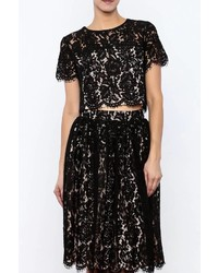 Yumi Cropped Lace Top
