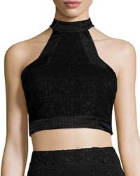 Janek lace high neck crop top medium 650712