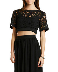 BCBGeneration Lace Crop Top