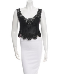 Alberta Ferretti Lace Crop Top