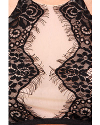 5618d8f330d rsvp Lost In Lace Beige And Black Lace Crop Top, $45 | Lulu's ...
