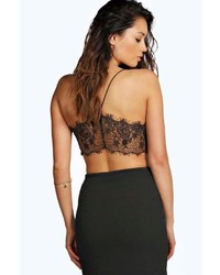 Boohoo Petite Amy Lace Back Bralet