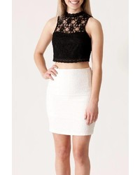 She Sky Lace Crop Top