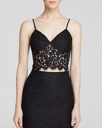 Bardot Top Lace Crop