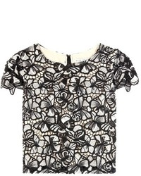 Alice + Olivia Eve Cropped Lace Top