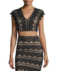 Nightcap Clothing Sierra Lace Crop Top Black