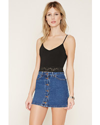 Forever 21 Lace Trimmed Cropped Cami