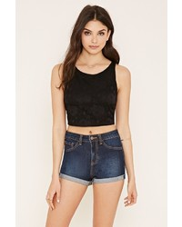 Forever 21 Floral Lace Crop Top