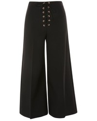 Topshop Lace Up Wide Leg Trousers