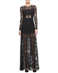 Alexis Marisol Sheer Lace Gown