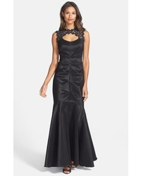 Xscape lace taffeta mermaid gown medium 516866