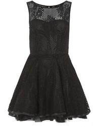 Ax Paris Black Crochet Lace Dress