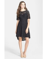 Betsey Johnson Lace Highlow Fit Flare Dress