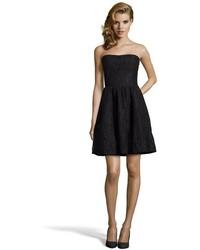 Torn By Ronny Kobo Black Cotton Blend Lace Dominika Strapless Dress