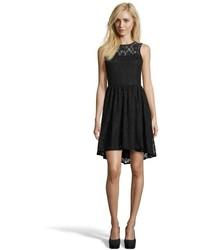 Hayden Black Floral Lace Hi Low Dress
